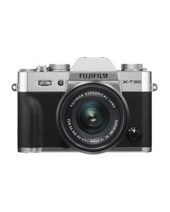 دوربین فوجی X-T30 با لنز 45-15 نقره ای