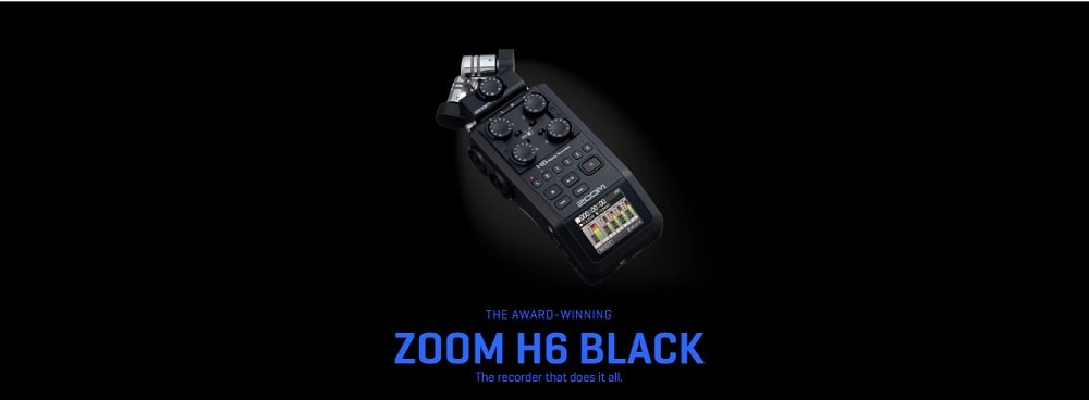 رکوردر ZOOM H6 Black