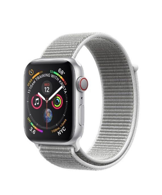 اپل واچ سری 4 آلومینیوم نقره ای بند اسپرت لوپ نقره ای