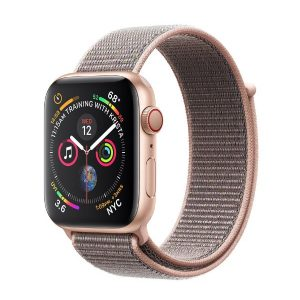 اپل واچ سری 4 آلومینیوم طلایی بند اسپرت لوپ صورتی