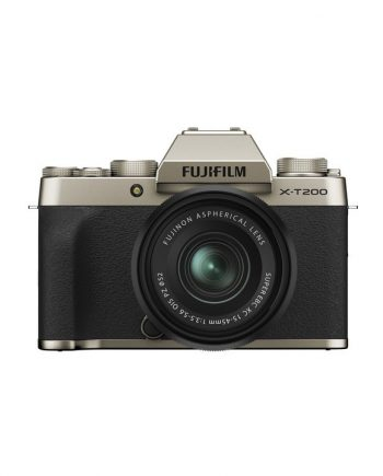 دوربین فوجی X-T200 با لنز 45-15 طلایی