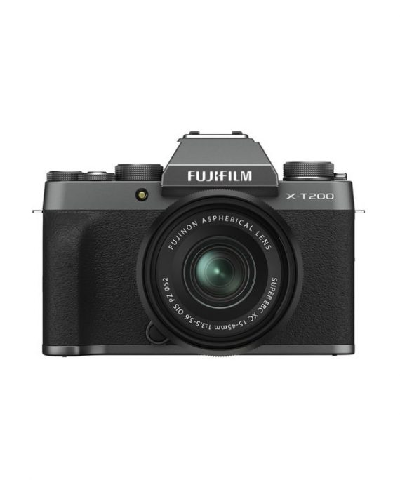 دوربین فوجی X-T200 با لنز 45-15 خاکستری