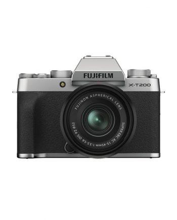 دوربین فوجی X-T200 با لنز 45-15 نقره ای