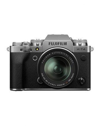 دوربین فوجی X-T4 با لنز 55-18 نقره ای