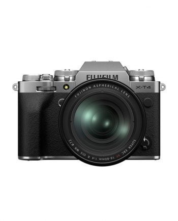 دوربین فوجی X-T4 با لنز 80-16 نقره ای