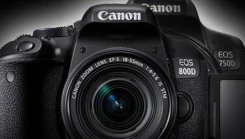مقایسه دوربین کانن D750 و 800D