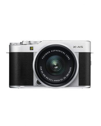 دوربین فوجی X-A5 با لنز 45-15 نقره ای