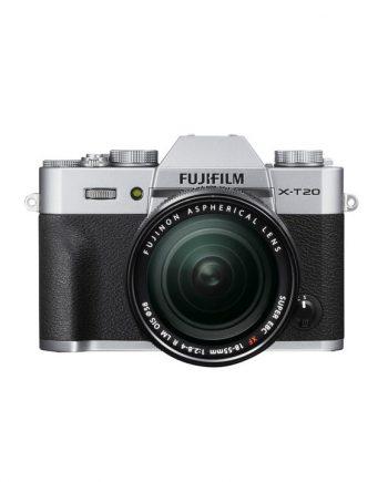 دوربین فوجی X-T20 با لنز 55-18 نقره ای