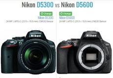 مقایسه دوربین نیکون D5300 و D5600
