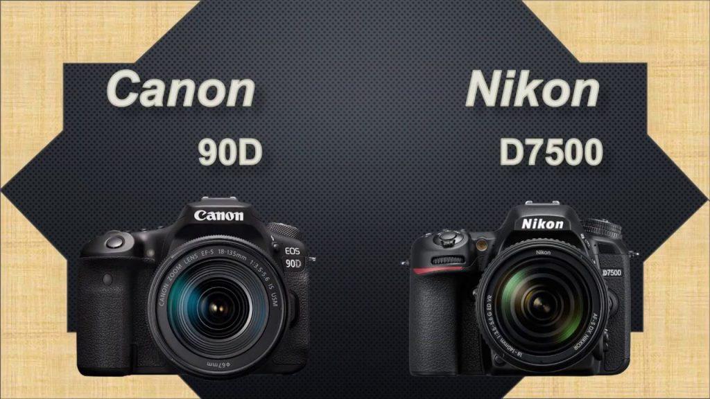 مقایسه نیکون D7500 و کانن 90D