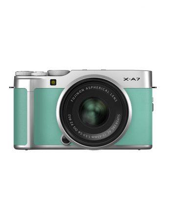 دوربین فوجی X-A7 با لنز 45-15 سبز