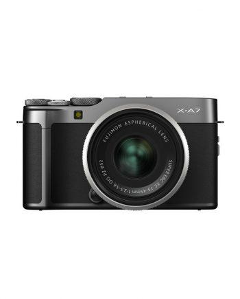 دوربین فوجی X-A7 با لنز 45-15 خاکستری