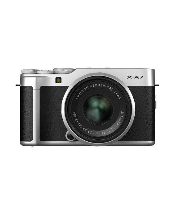 دوربین فوجی X-A7 با لنز 45-15 نقره ای