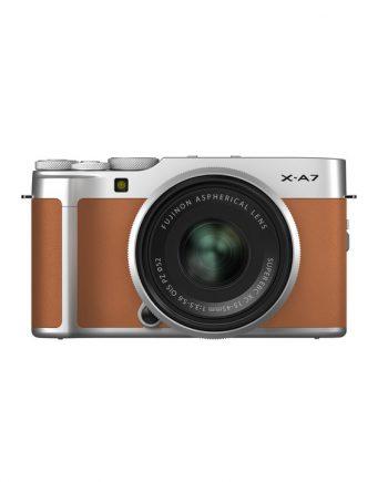 دوربین فوجی X-A7 با لنز 45-15 قهوه ای