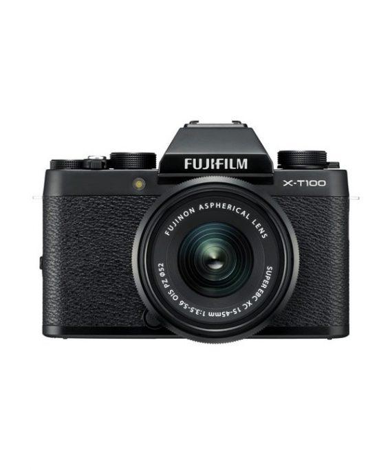 دوربین فوجی X-T100 با لنز 45-15 مشکی
