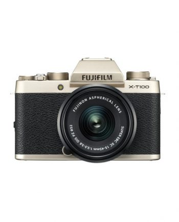 دوربین فوجی X-T100 با لنز 45-15 طلایی
