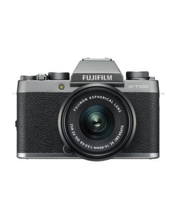 دوربین فوجی X-T100 با لنز 45-15 خاکستری